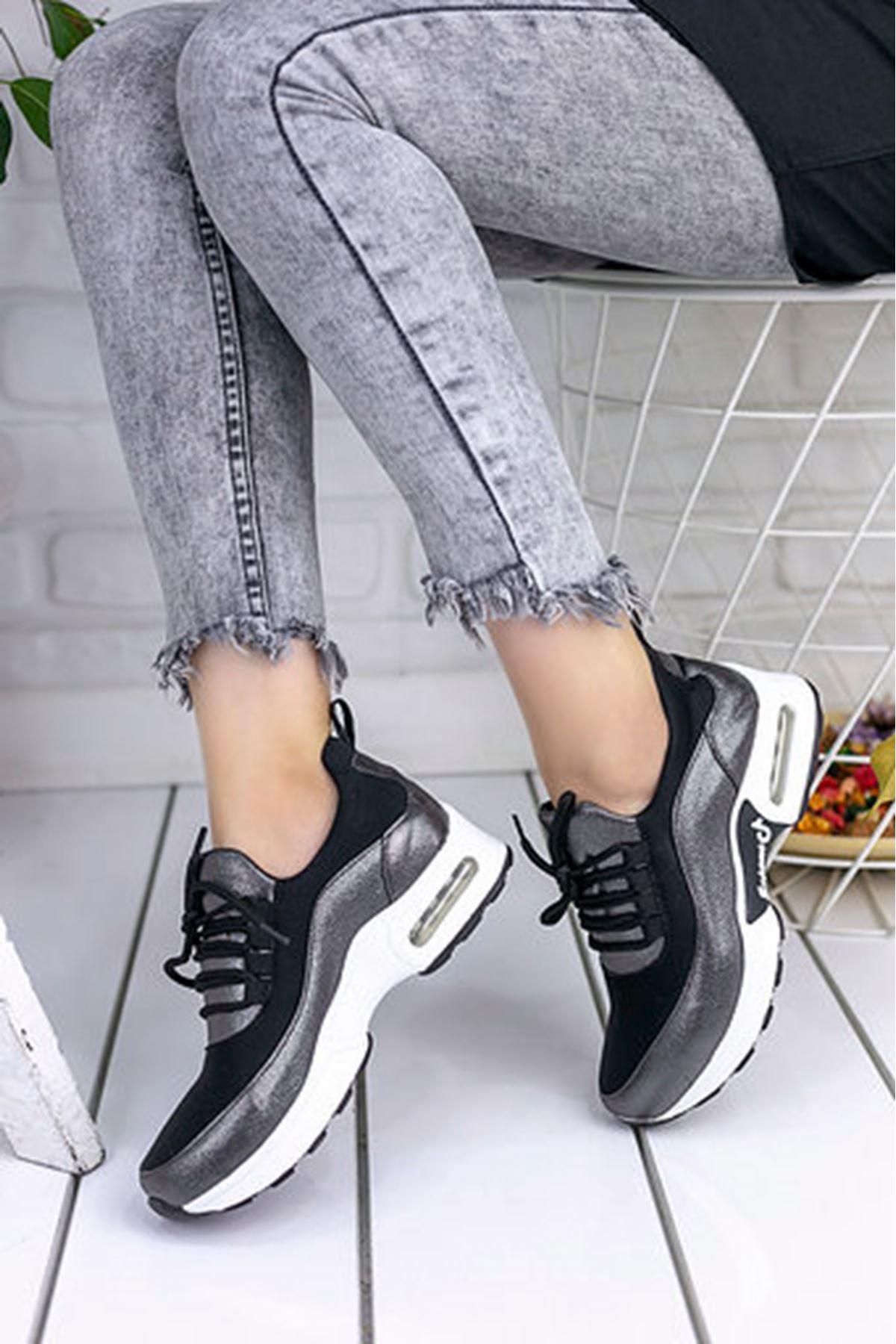 Lexi Hava Tabanlı Dalgıç Kumaş Detay Spor Ayakkabı Platin