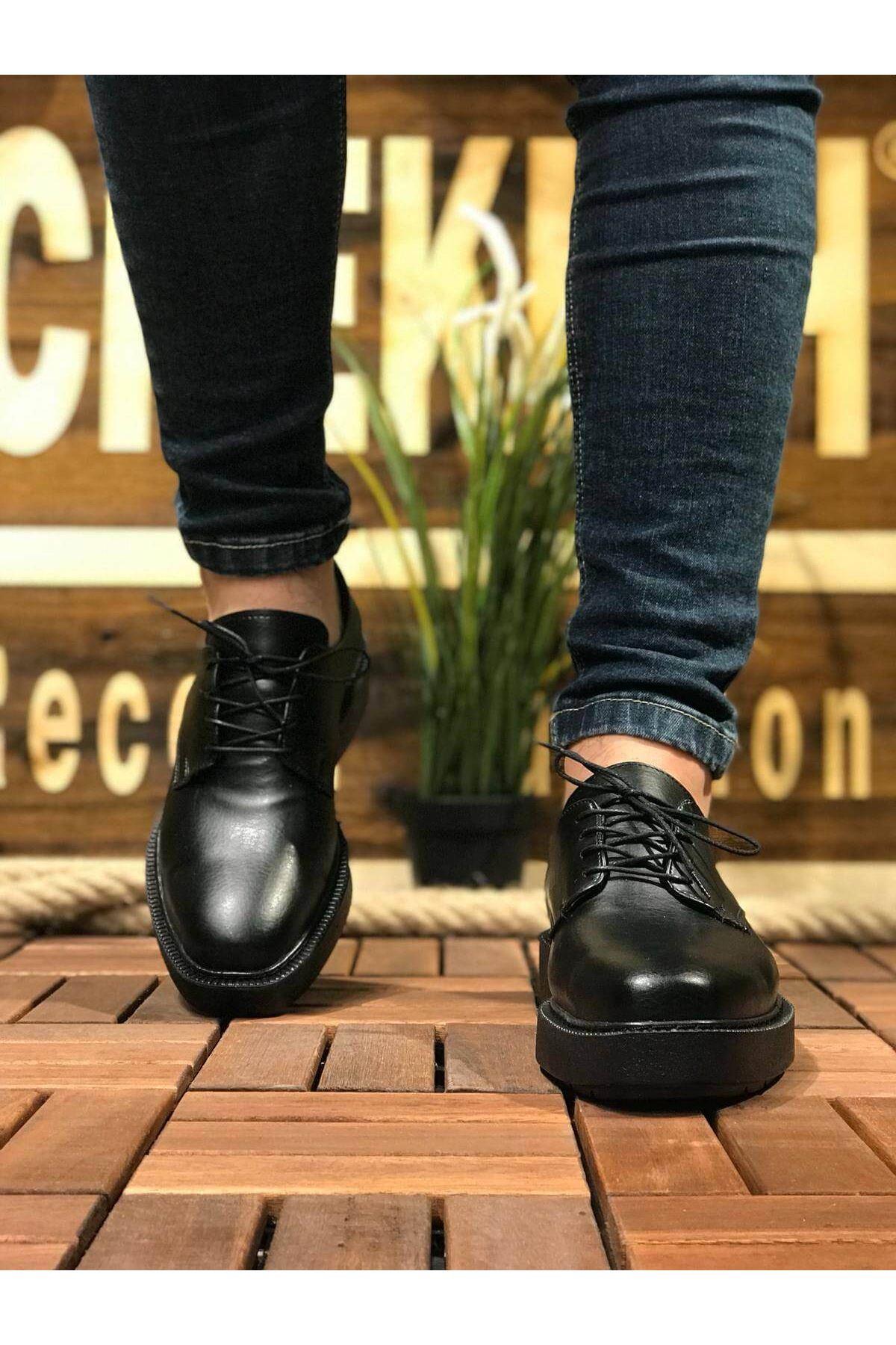 Chekich CH001 Fantasya Siyah Taban Erkek Ayakkabı SIYAH