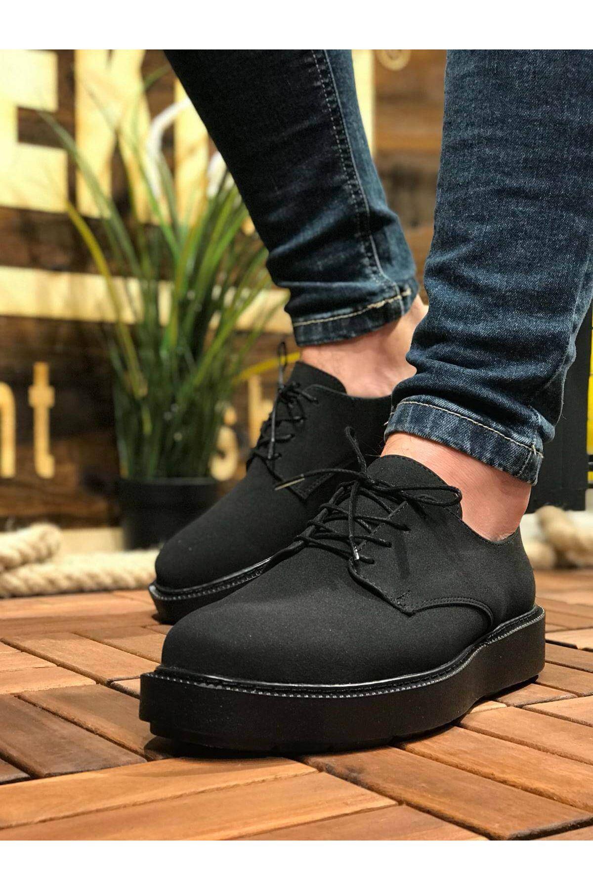 Chekich CH001 Süet Siyah Taban Erkek Ayakkabı SIYAH