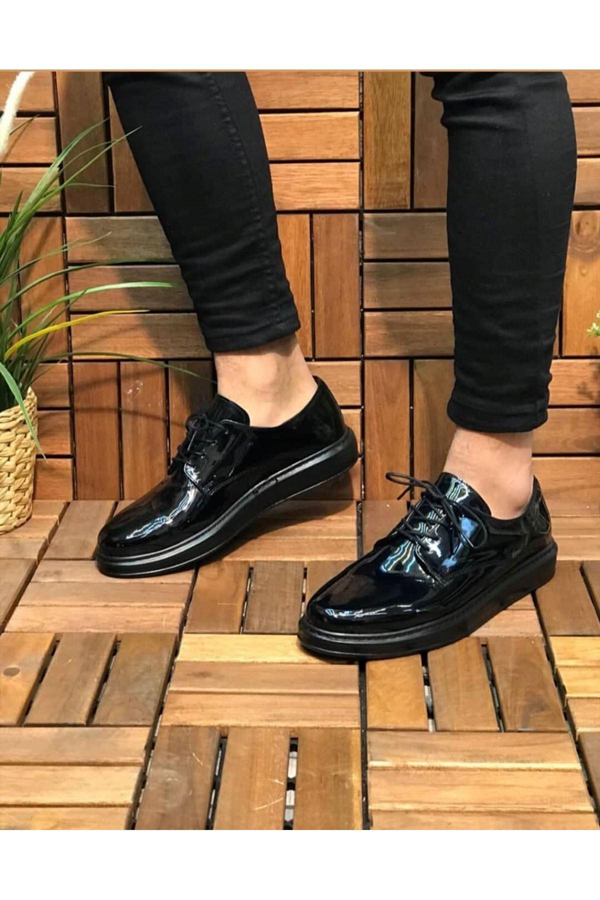 Chekich CH003 Rugan ST  Erkek Ayakkabı SIYAH
