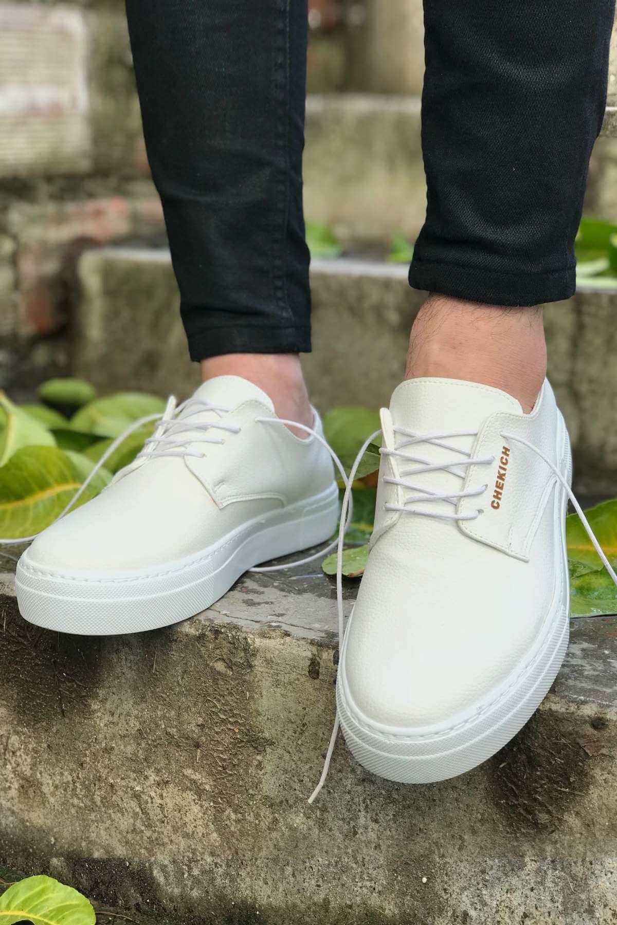 Chekich CH005 BT Erkek Ayakkabı BEYAZ