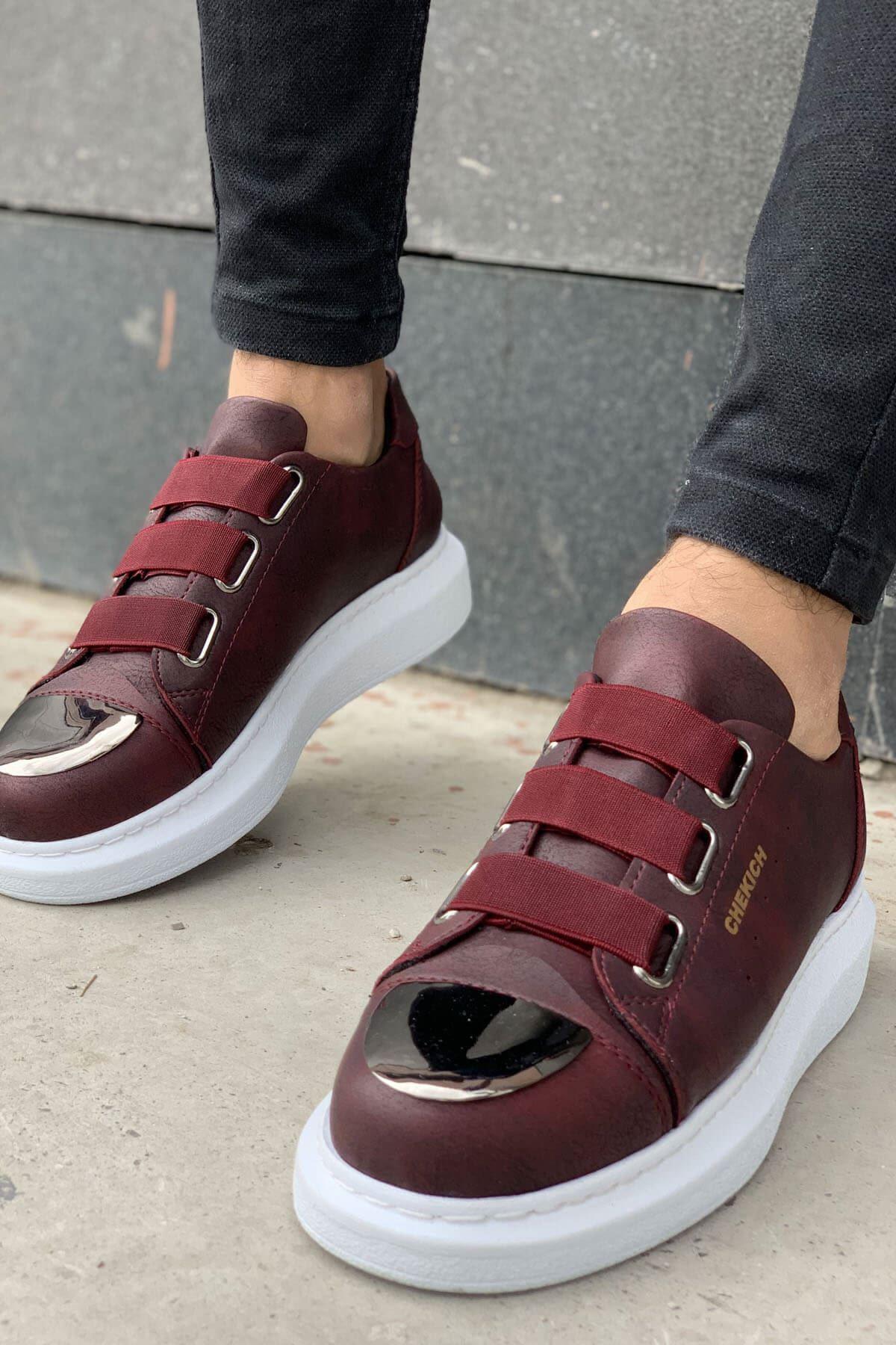 Chekich CH251 BT Erkek Ayakkabı BORDO
