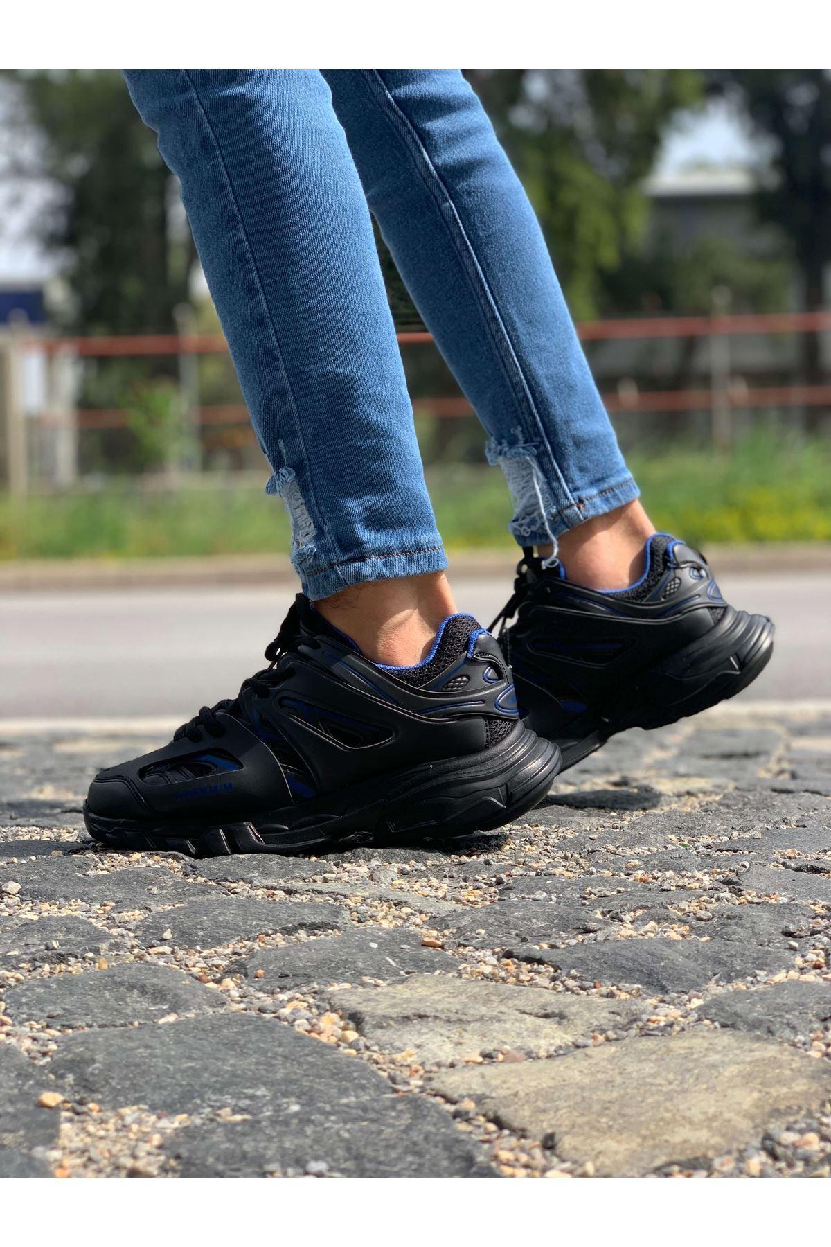 Chekich CH301 ST Erkek Ayakkabı SİYAH - MAVİ