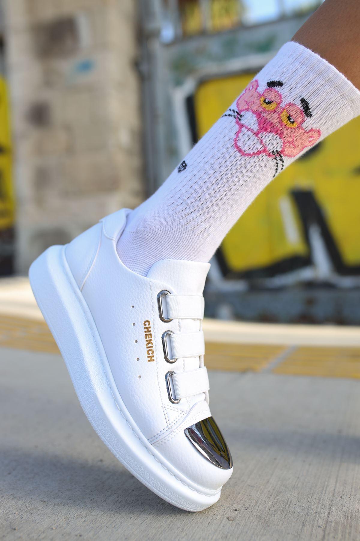 Chekich CH251 BT Kadın Ayakkabı BEYAZ