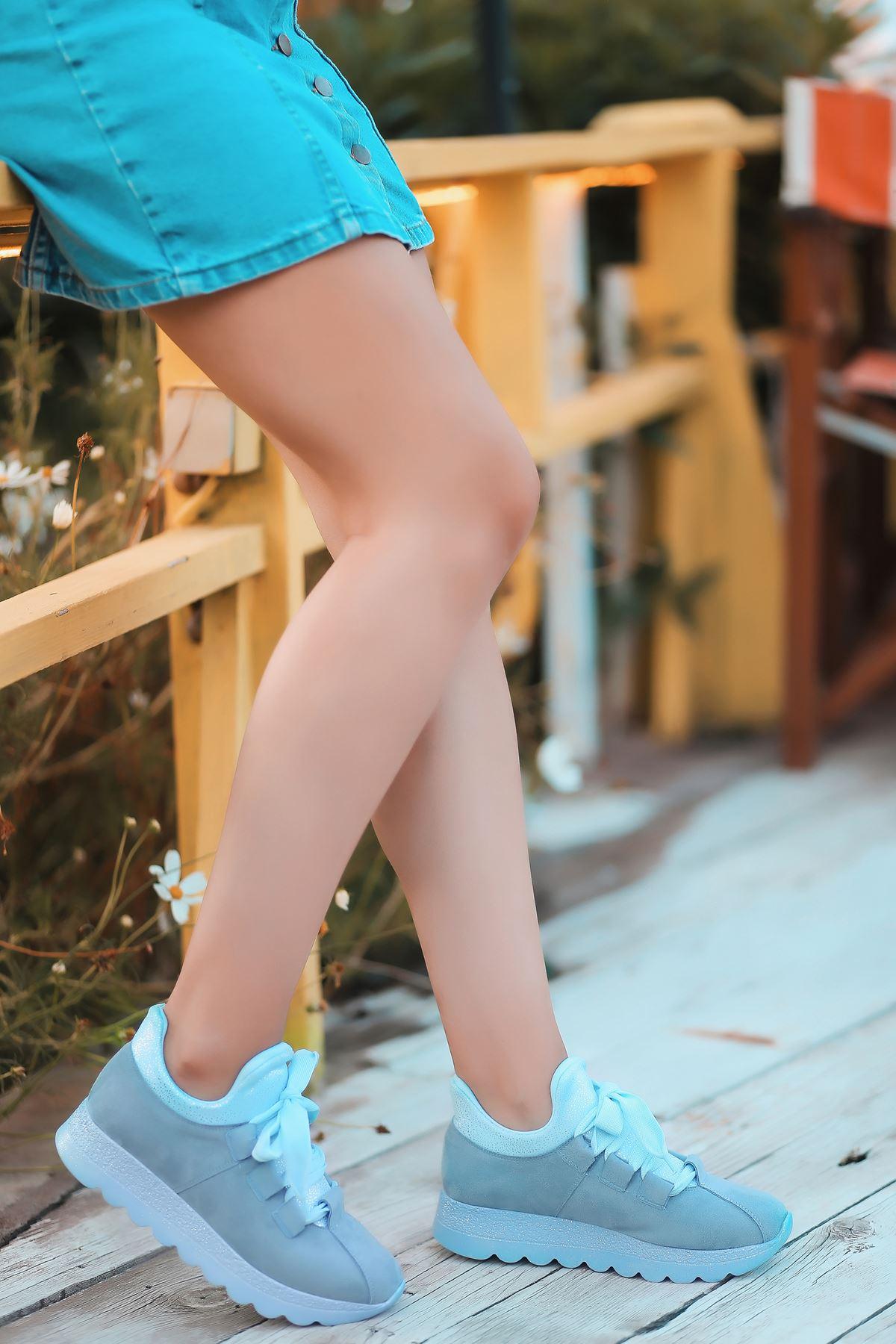 Arissa Bebek Mavi Bağcık Detay Kadın Spor Ayakkabı