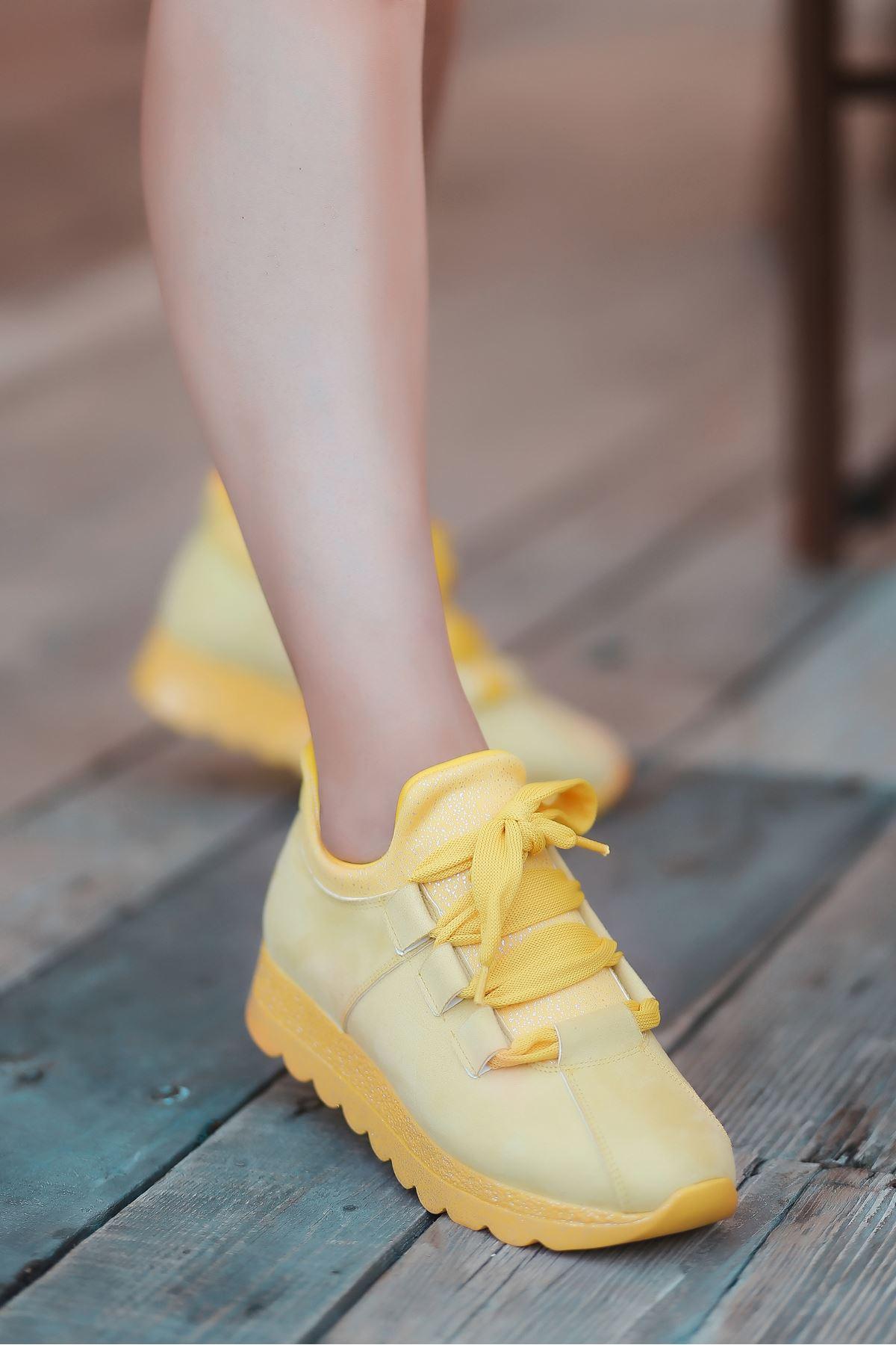 Arissa Sarı Bağcık Detay Kadın Spor Ayakkabı