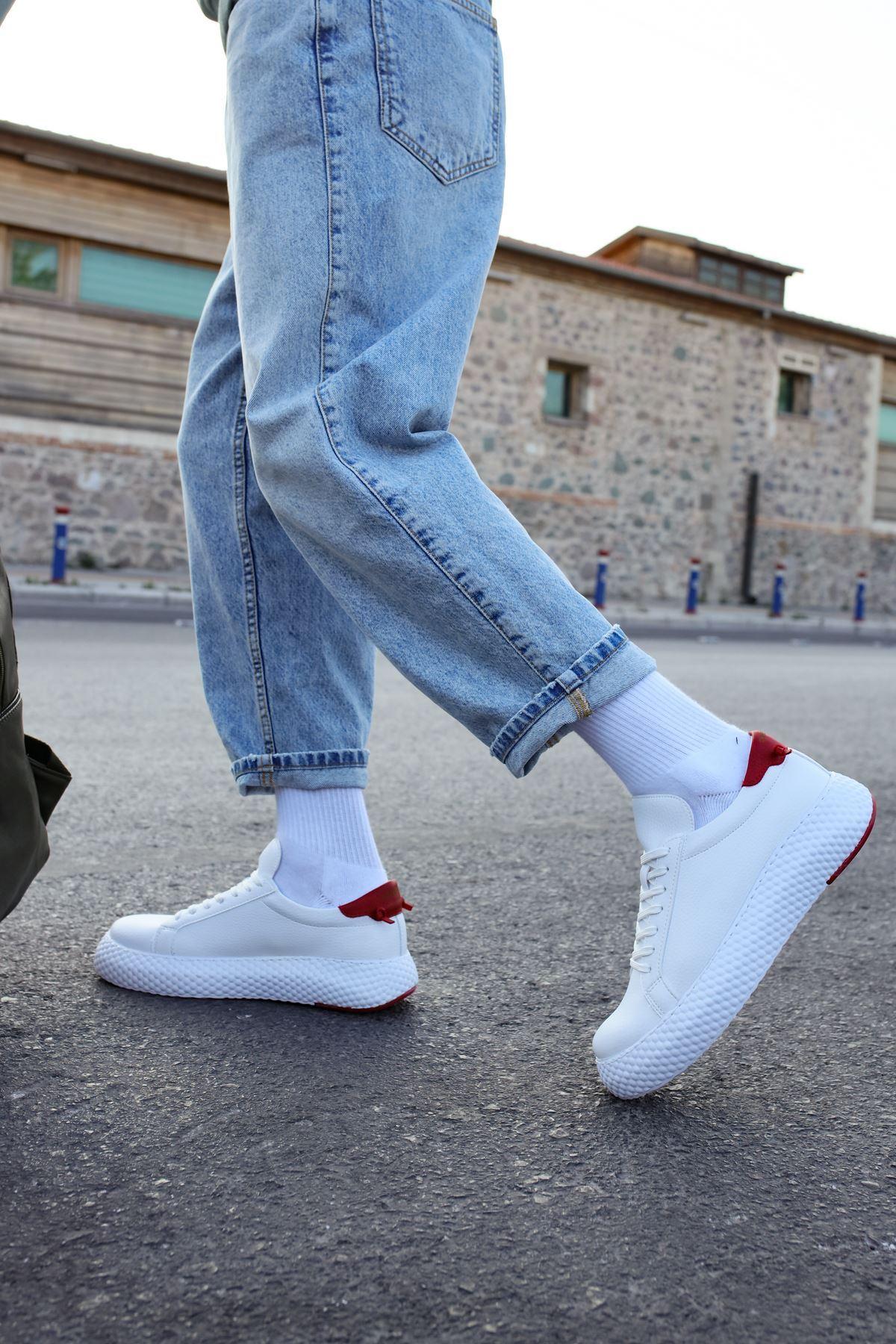 Chekich CH107 GBT Erkek Ayakkabı BEYAZ / KIRMIZI