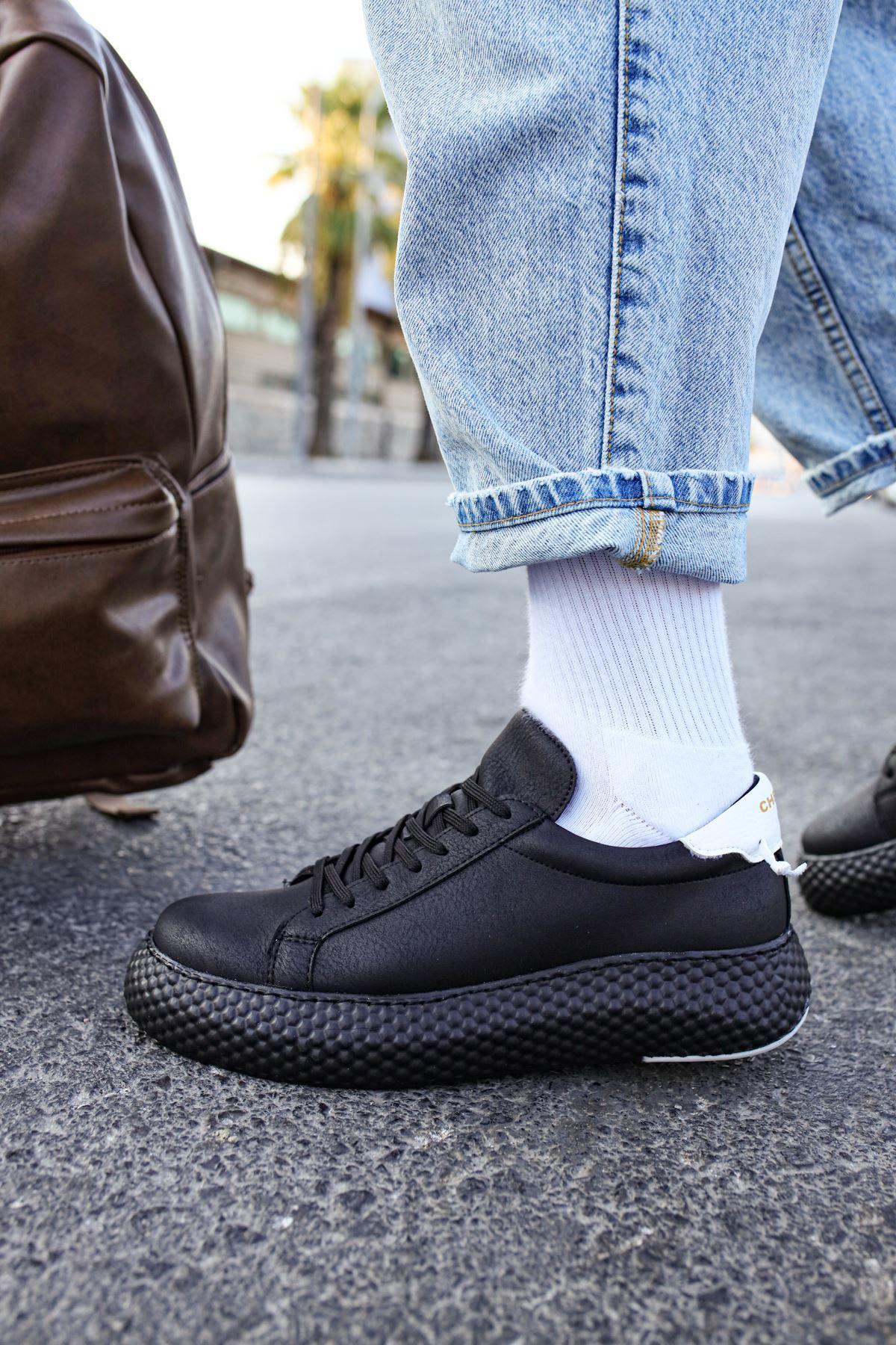 Chekich CH107 GST Erkek Ayakkabı SİYAH / BEYAZ