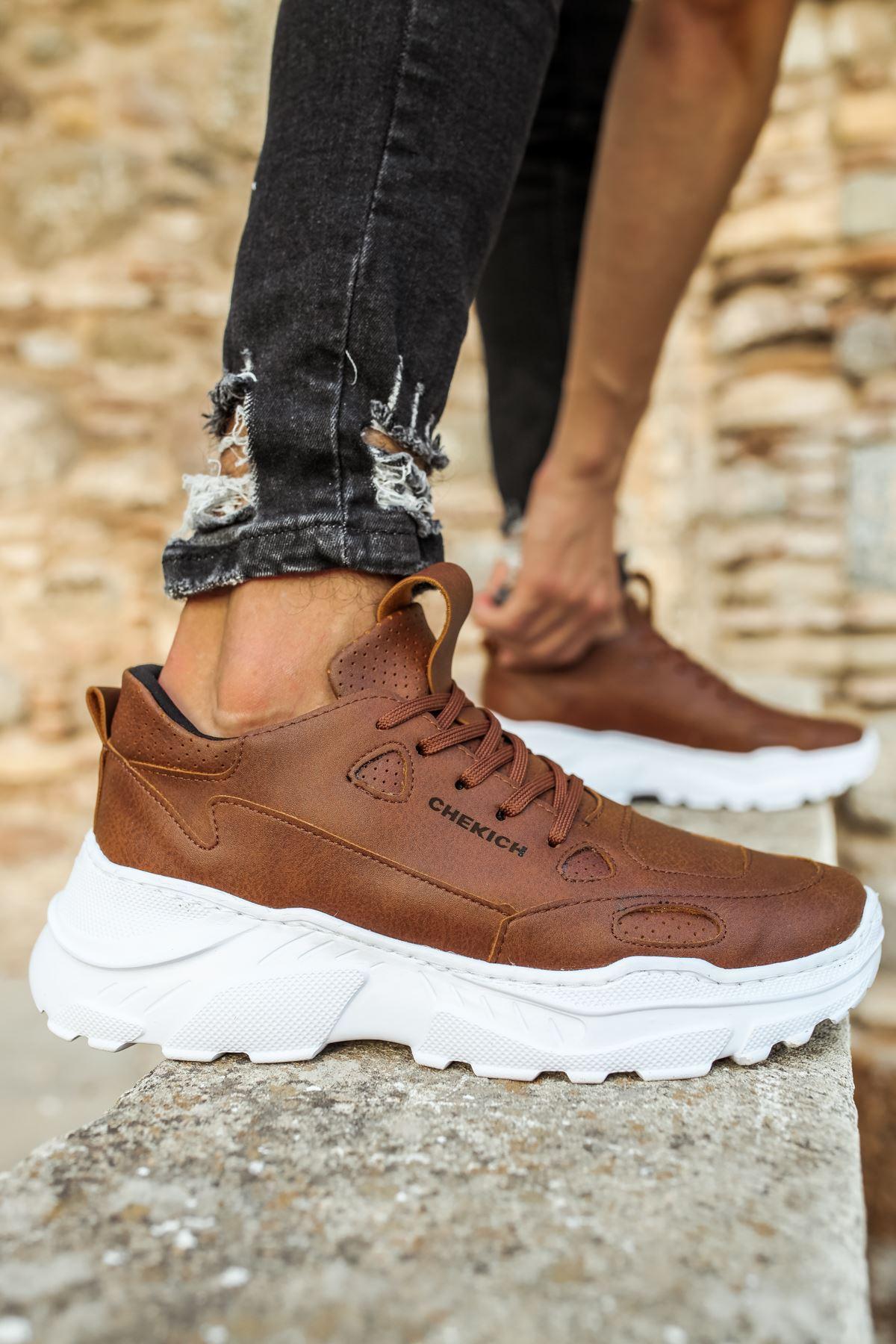Chekich CH089 BT Erkek Ayakkabı TABA