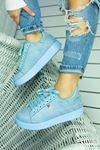 Birsu Süet Kadın Spor Ayakkabı Bebek Mavi
