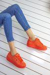 Birsu Süet Kadın Spor Ayakkabı Oranj