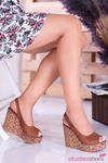 Alonso Taba Süet  Dolgu Topuk Kadın Ayakkabı