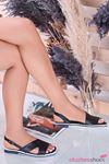 Most Mat Deri Kadın Sandalet Siyah