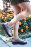 Dorris Bağcık Detaylı Platin Kadın Sneaker