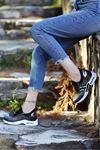 Laney Hava Tabanlı Etiket Detaylı Kadın Spor Ayakkabı Platin