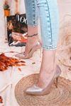 Ruha Yüksek Topuklu Rose Gold Rugan Kadın Stiletto