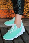Adal Bağcık Detaylı Su Yeşili Kadın Spor Ayakkabı