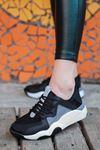 Torres File Detay Siyah Kadın Spor Ayakkabı